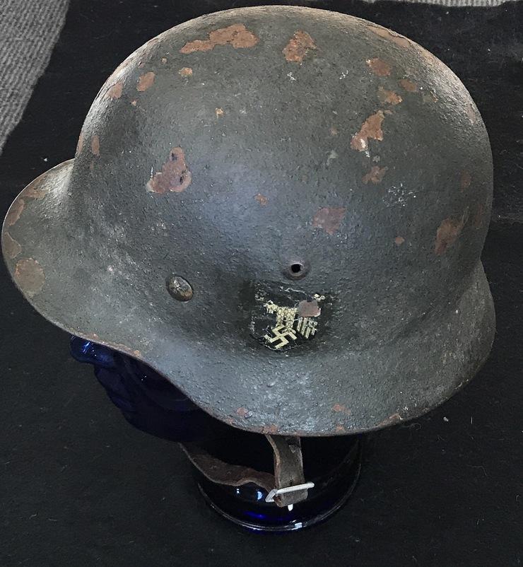 WW2 German M35 DD Camo helmet